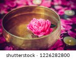 tibetan singing bowl with... | Shutterstock . vector #1226282800