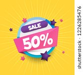 sale vector 50  discount 50 ... | Shutterstock .eps vector #1226285476