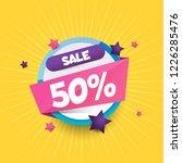 sale vector 50  discount 50 ... | Shutterstock .eps vector #1226285476