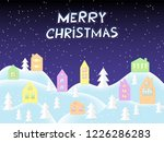 merry christmas card  great... | Shutterstock .eps vector #1226286283
