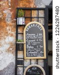 rome  italy   09 25 18  menu in ... | Shutterstock . vector #1226287480