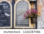 rome  italy   09 25 18  menu in ... | Shutterstock . vector #1226287486