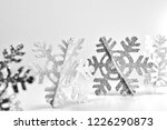 sparkly snowflakes in a row.... | Shutterstock . vector #1226290873