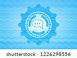 speech bubble icon inside light ... | Shutterstock .eps vector #1226298556