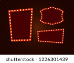 vintage 3d light retro frames.... | Shutterstock .eps vector #1226301439