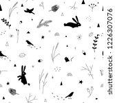 seamless winter pattern  forest ...   Shutterstock .eps vector #1226307076