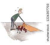 Man Sweeping Error Under The...