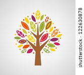 colorful stylized tree | Shutterstock .eps vector #122630878