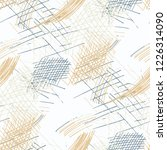 various pen hatches. seamless...   Shutterstock .eps vector #1226314090