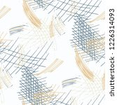 various pen hatches. seamless...   Shutterstock .eps vector #1226314093
