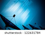satellite dish transmission... | Shutterstock . vector #122631784