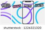abstract  social media stories... | Shutterstock .eps vector #1226321320