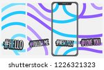 abstract  social media stories... | Shutterstock .eps vector #1226321323