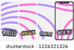 abstract  social media stories... | Shutterstock .eps vector #1226321326