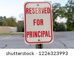 red reserved for principal sign ... | Shutterstock . vector #1226323993