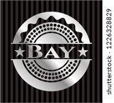 bay silver badge or emblem | Shutterstock .eps vector #1226328829