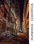 dark and eerie downtown urban...   Shutterstock . vector #1226330116