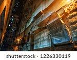 a large big vintage exhaust...   Shutterstock . vector #1226330119