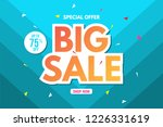 big sale banner template. sale... | Shutterstock .eps vector #1226331619
