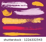 paint lines grunge collection.... | Shutterstock .eps vector #1226332543