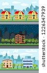 set of three illustrations of... | Shutterstock . vector #1226347939