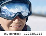 close up of the ski goggles of...   Shutterstock . vector #1226351113