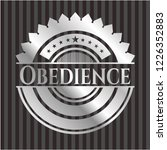 obedience silver badge or emblem | Shutterstock .eps vector #1226352883