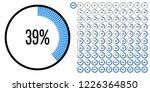 set of circle percentage...