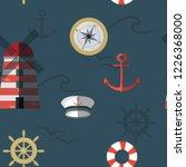 navy vector seamless pattern on ...   Shutterstock .eps vector #1226368000