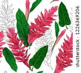 seamless pattern background of... | Shutterstock .eps vector #1226369206