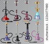 hookah vector tobacco hooka... | Shutterstock .eps vector #1226377480