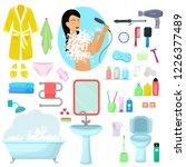 hygiene personal care vector... | Shutterstock .eps vector #1226377489