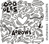 set of arrow hand drawn design... | Shutterstock .eps vector #1226386696