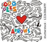 set of arrow hand drawn design... | Shutterstock .eps vector #1226386699