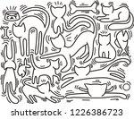 hand drawn vector illustrations ... | Shutterstock .eps vector #1226386723