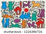 hand drawn vector illustrations ... | Shutterstock .eps vector #1226386726