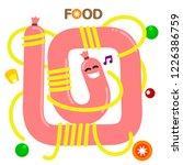 dance food. singing sausage... | Shutterstock .eps vector #1226386759