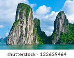 scenic view of mountain island... | Shutterstock . vector #122639464