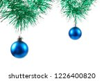 christmas ornaments on white... | Shutterstock . vector #1226400820