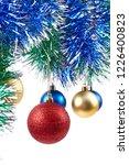 christmas ornaments on white... | Shutterstock . vector #1226400823