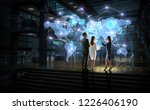 working on strategy of global... | Shutterstock . vector #1226406190