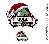 christmas golf logo | Shutterstock .eps vector #1226408029