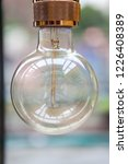 light bulb in the coffee shop... | Shutterstock . vector #1226408389