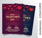 elegant valentine's party flyer ... | Shutterstock .eps vector #1226411890