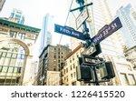 street sign of fifth ave and... | Shutterstock . vector #1226415520