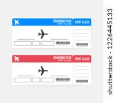 airline boarding pass tickets... | Shutterstock .eps vector #1226445133