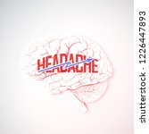 headache concept in the form of ... | Shutterstock .eps vector #1226447893