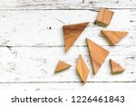 tangram puzzle in piece wait to ... | Shutterstock . vector #1226461843