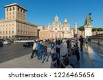 rome  italy   october 26  2018  ... | Shutterstock . vector #1226465656