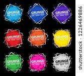 set grunge splash banners....   Shutterstock .eps vector #1226469886